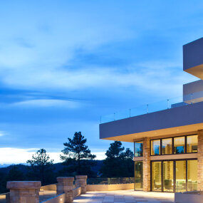Colorado Mountain Home Night time Exterior