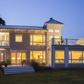 North Fork Residence Exterior Night