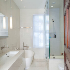 Upper West Side Landmark Townhouse Master Bath