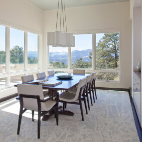 Colorado Mountain Home Dining Room